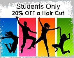 20% off hair cut for students!