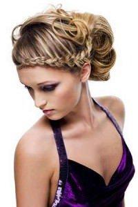 plaited prom hair upstyle