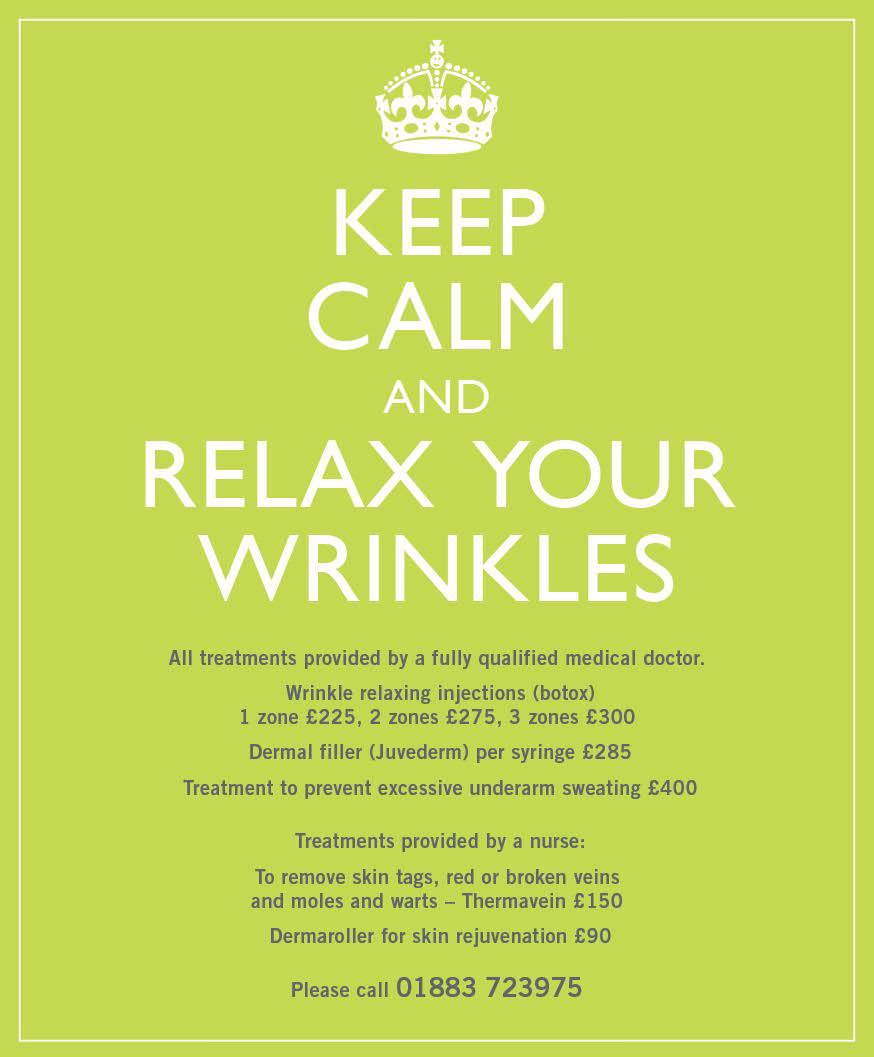 anti wrinkle treatments at elements in oxted