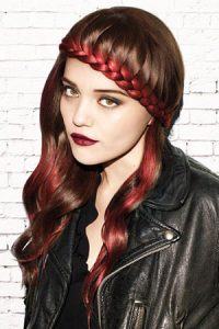 cool-plaited festival hairstyles at elements hair and beauty salon in Oxted