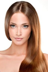 Straight-hair-with-centre-parting at elements hair & beauty salon, Oxted