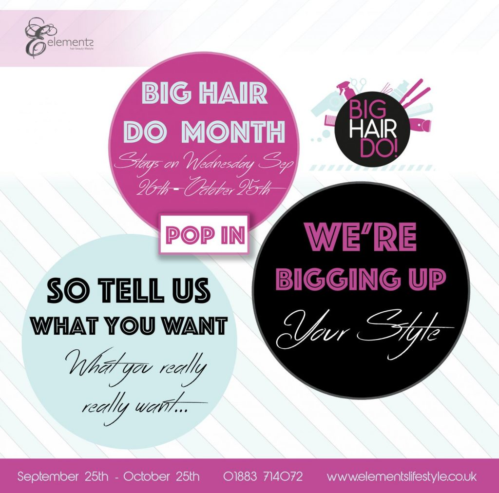 the big hair do 2018 at elements hair salon in oxted