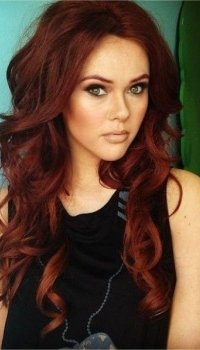 wavy-curly-dark-red-hair-color-2015-trends