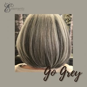 Grey hair colours at elements hair salon in Surrey